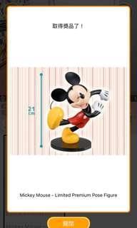 正牌日本景品迪士尼米奇Mickey 模型