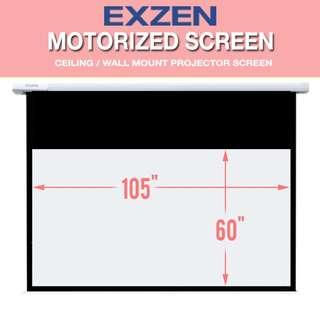 "DISPLAY SET [EXZEN] 120"" (16:9) Motorised Projector Screen"