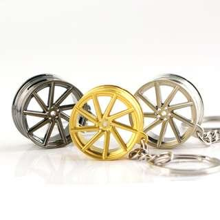 🚚 Vossen Wheel Keychain (Gold / Silver / Dark Grey)