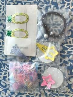 Hair clips and bands