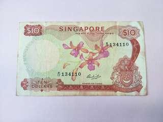 Singapore Orchid Series $10 Note