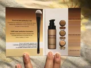 Sephora collection 10HR wear perfection foundation sample card