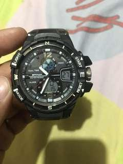 Sanda Water Proof Sports Analog Digital Watch