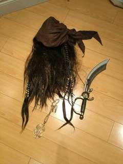 Pirate jack sparrow halloween accessory