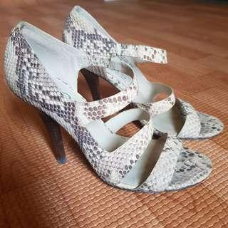 Used Authentic MICHAEL KORS Heels Shoes Snakeskin sz Us6.5 / 37