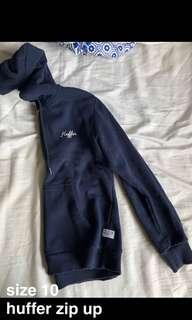 Huffer zip up hoodie