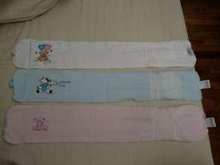 Used for 2 months Max cool baby swaddle cloth 57cm x 9cm , 3pieces for $8 meet up at punggol or bishan or tampines , in good condition.