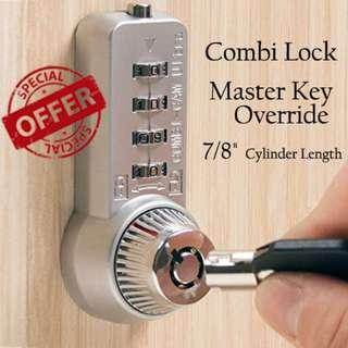🚚 Cam lock Combination lock with master key override - just bought not used yet