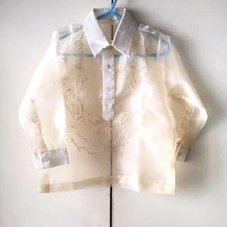 Boys' White / Beige Barong - National Costume (Size 4)