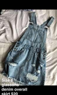 Glassons denim skirt overalls
