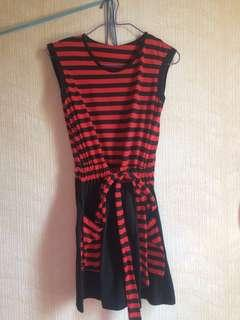 Preloved Dress Black and Red