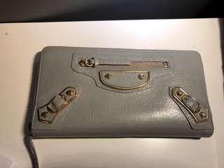 Balenciaga Grey Lambskin purse