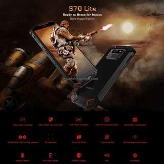DOOGEE S70 Lite Rugged Phone, 4GB+64GB, IP68 Waterproof Dustproof Shockproof, 5500mAh Battery, Dual Back Cameras, Fingerprint Identification, 5.99 inch Android 8.1 MTK Helio P23 Octa Core up to 2.5GHz, Network: 4G