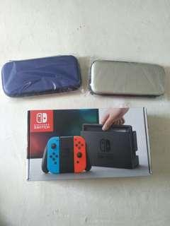 Nintendo Switch Console Neon Bundle with hard cover