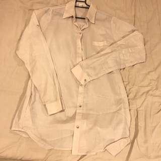 🚚 設計師品牌Pyjamaz絕版裸色(膚色)長袖襯衫,義大利進口緹花布,附口袋,戴佩妮、王心凌、王宇婕⋯⋯等明星愛牌