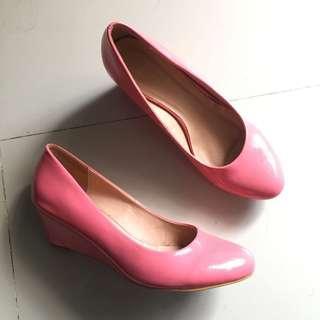 Zalora pink wedges