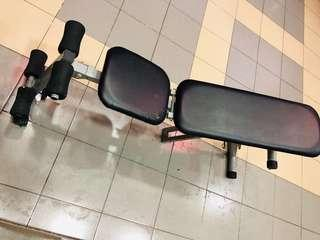Exercise sit up bench