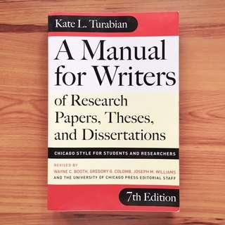 A Manual For Writers of Research Papers, Theses and Dissertations by Kate L. Turabian - Journalism