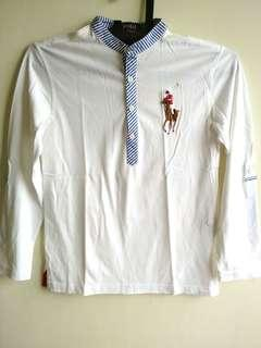 #Polo shirt white size 10