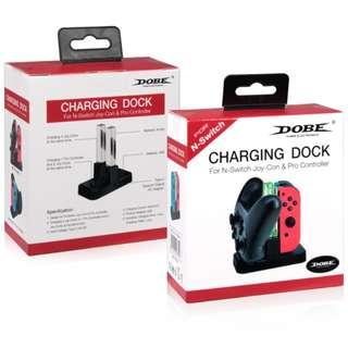 🚚 [In Stock] DOBE Nintendo Switch JoyCon + Pro Controller Charging Station