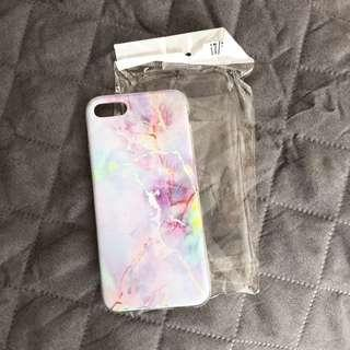Iphone 7/8 Purple Marble Soft Gel Case