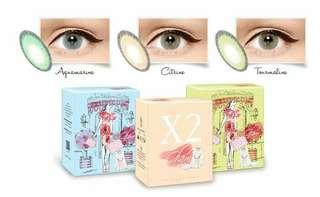 Softlens  X2 glam aquamarine