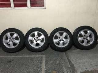 Toyota Vios Stock Mags and tires