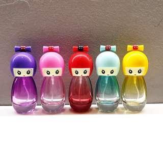 Cute Doll Perfume Bottle (5pcs set)