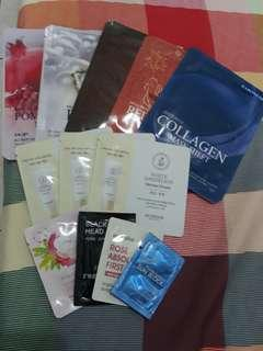 Assorted Korean Sheet Masks and Skin Care