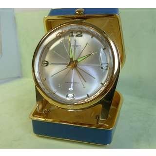 Unused item in new condition !70s' Vintage Seiko Diafix 8-Jewels travel alarm - hand winding