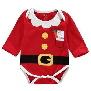 🚚 Instock - 2pc santa good list romper, baby infant toddler girl boy
