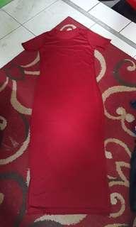 Dress bodycon red