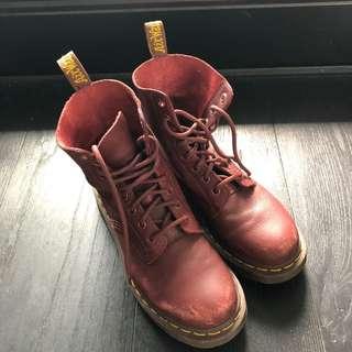 Dr martens burgundy boots