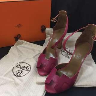 二手正貨 Hermes H 高跟涼鞋