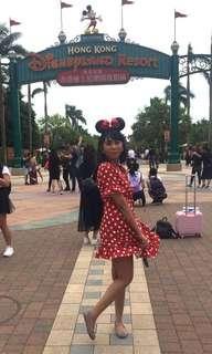 Free Size Wrap Polkadot (Minnie Mouse) #HALLOWEEN50