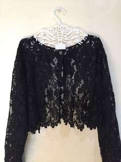 Lace outerwear