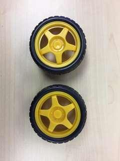 Smart Car Model Robot Plastic Tire Wheel 65mm