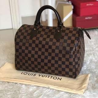 PRELOVED VGC LOUIS VUITTON Speedy 30 Damier Ebene 2012