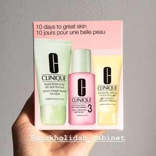 New Clinique 10 Days to Great Skin Travel package Clinique skin care facial soap moisturizer