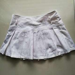 🆕 White pleated mini skirt