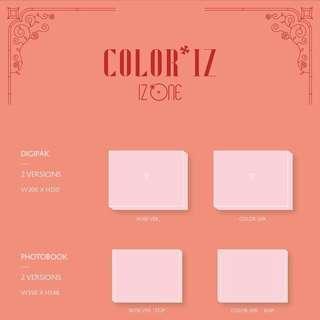 IZ*ONE Debut Mini Album COLOR*IZ