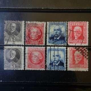 [lapyip1230] 西班牙共和國 1930年 深色版/ 淺色版 舊票 VFU
