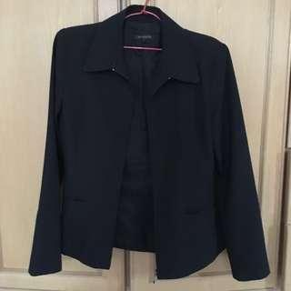 Padini Black Zip Up Blazer