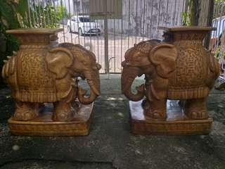 Pair Of Vintage Elephant