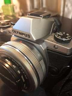 Price Lowered Olympus OMD E-M10 with Garis Leather Cover, M-Zuiko 14-42mm, 45mm and 40-150mm lens