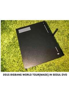🚚 2015年BIGBANG WORLD TOUR [MADE] IN SEOUL DVD世界巡迴演唱會DVD 二手品 九成新