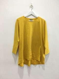 COS Cotton Mustard Top