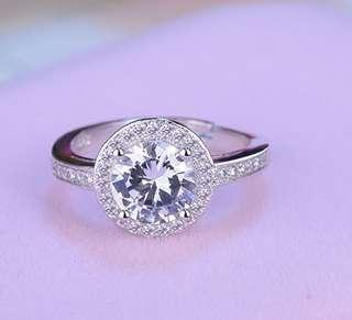 Ring single diamond ring female ring adjustable ring