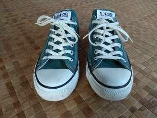 CONVERSE VINTAGE ALL STAR 80's 90s GREEN MADE IN USA RARE SIZE 8