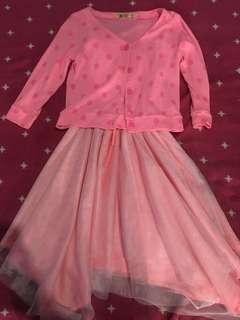 Pink dress with blazer